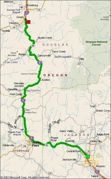 Us Interstate 5 Medford Or Green Or Motorcycle Roads Northwest