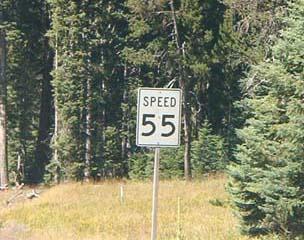 55 miles per hour