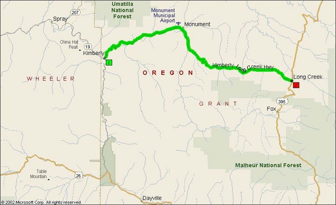 Overview Map of OR SR402
