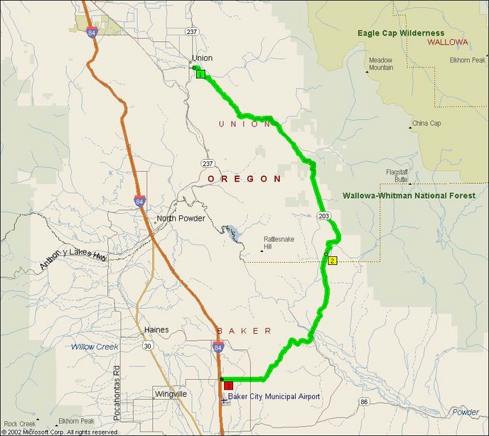 Oregon Route Medical Springs Highway Motorcycle Roads - Map of oregon highways
