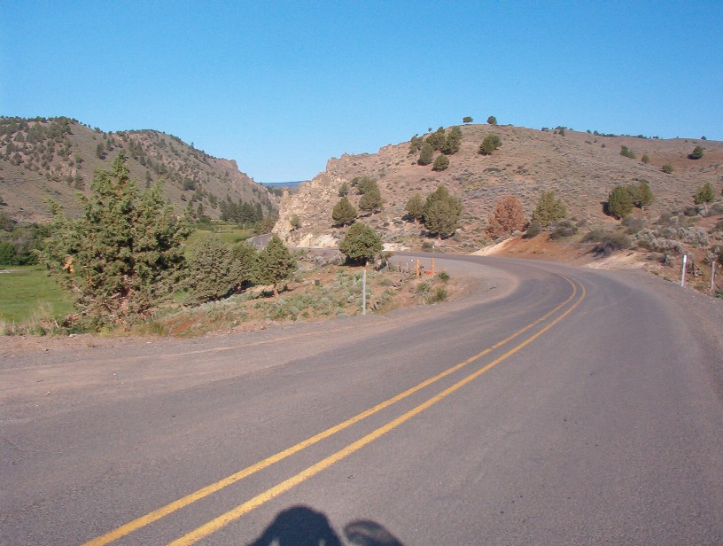 Ridgeline just east of Unity Reservoir