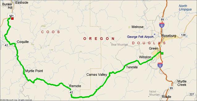 map of Oregon 42