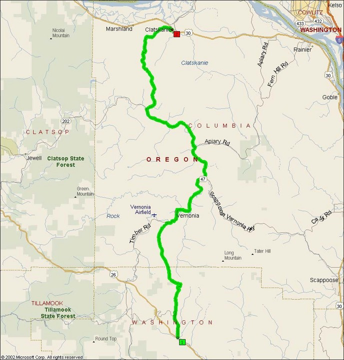 Oregon Route Motorcycle Roads NorthWest - Oregon state road map