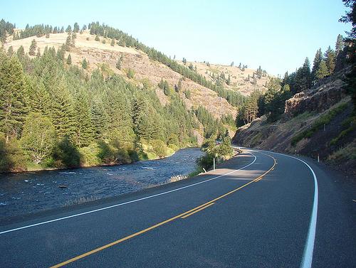 Oregon Route 82 along the Wallowa River
