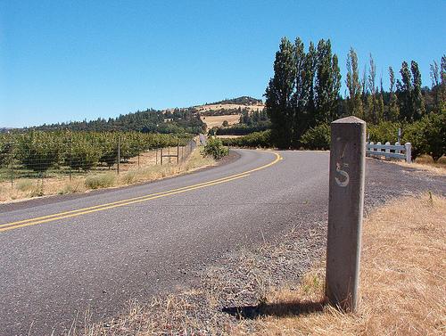 Mile Marker 75 just west of Rowena Crest