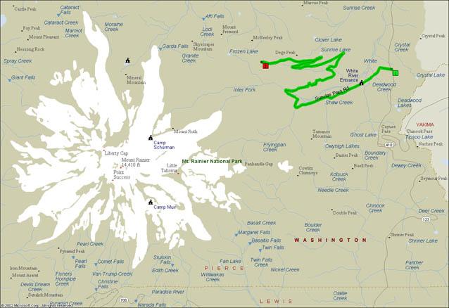 General Map of Mt. Rainier National Park