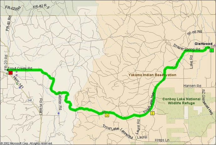 Glenwood Trout Lake Highway Motorcycle Roads Northwest