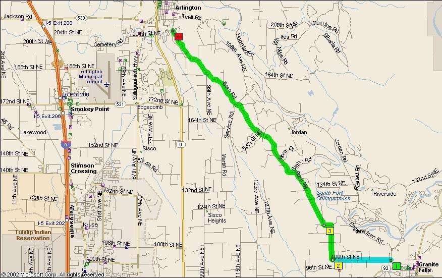 Map View of Burn Road