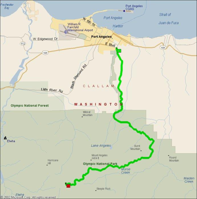Overview of Hurricane Ridge & Heart o' the Hills Road