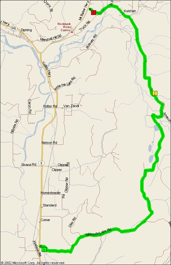 Map of SR9 from Arlington to Deming