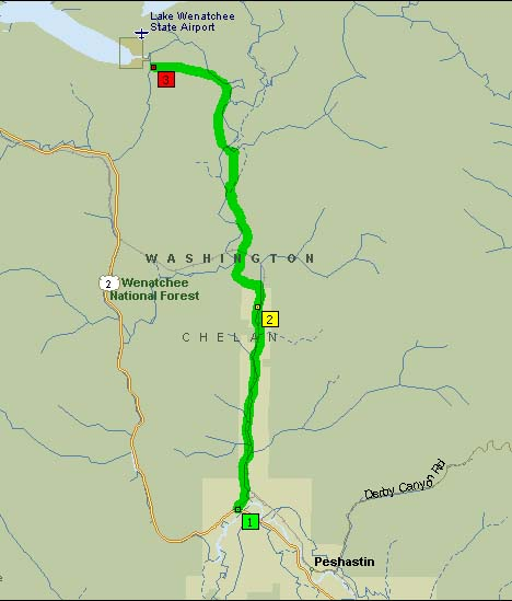 Overview Map of Chuckstick Highway