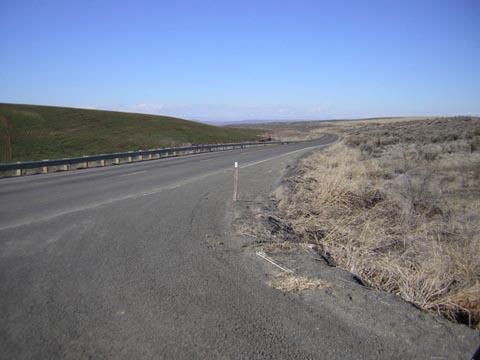 Sagebrush Flats Road, looking North
