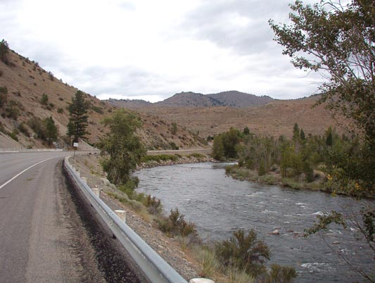 View up the Methow River toward the NW along SR153