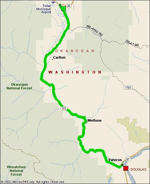 Map View of WA SR153