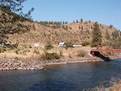View of a ranch across the Naches River