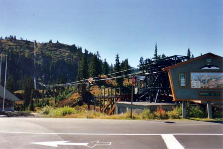 Ski Lifts at the foot of Mount Baker