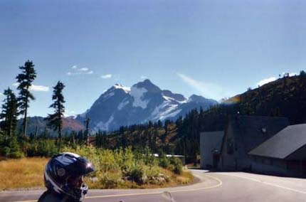 Sitting in front of the ski resort looking east to Shuksan