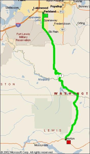 Map of WA SR7
