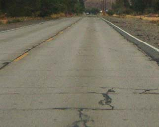 The pavement was much worse before the DOT repaving job