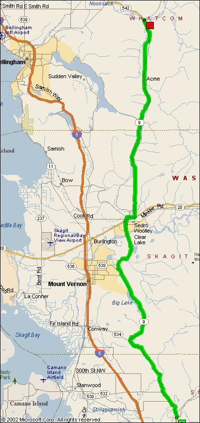 Overview Map of WA SR9
