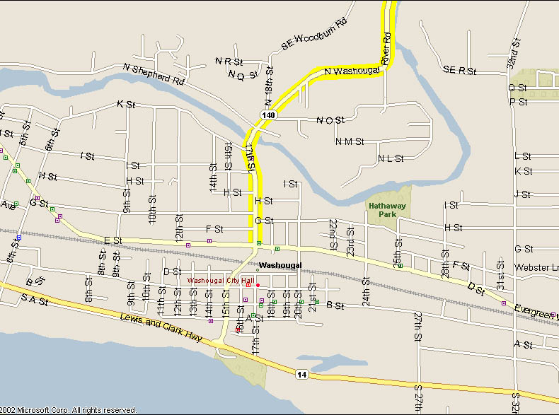 Map of Downtown Washougal